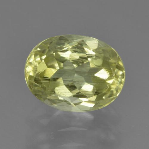 2ct Oval Facet Greenish Yellow Sillimanite Gem (ID: 411422)