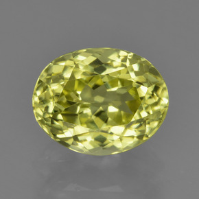 2.50 ct Oval Facet Green Yellow Sillimanite Gemstone 9.06 mm x 7.2 mm (Product ID: 411423)