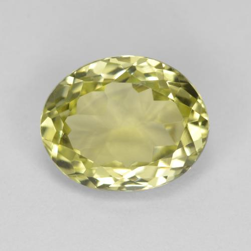 2.6ct Oval Facet Medium Yellow Sillimanite Gem (ID: 411424)