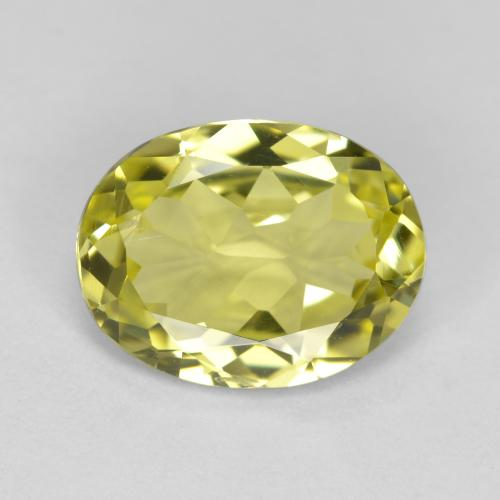 2.4ct Oval Facet Medium Yellow Sillimanite Gem (ID: 411426)