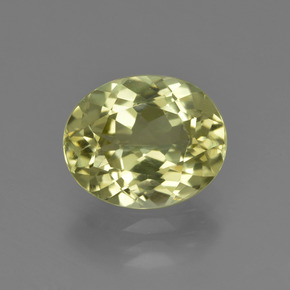 2.8ct Oval Facet Medium Yellow Sillimanite Gem (ID: 411427)