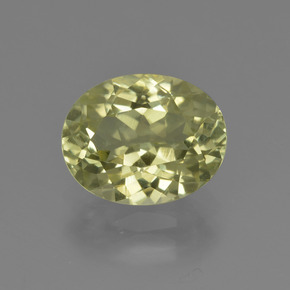 2.7ct Oval Facet Pale Cream Yellow Sillimanite Gem (ID: 411428)