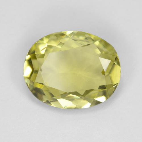 2.2ct Oval Facet Medium Yellow Sillimanite Gem (ID: 411431)