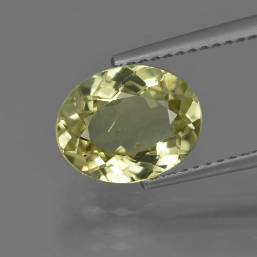 2.5ct Oval Facet Medium Yellow Sillimanite Gem (ID: 411432)