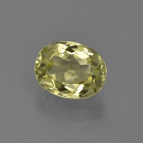 2.3ct Oval Facet Medium Yellow Sillimanite Gem (ID: 411451)