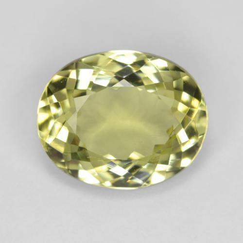 2.8ct Oval Facet Greenish Yellow Sillimanite Gem (ID: 411453)