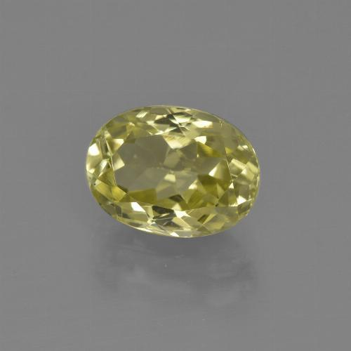 2.3ct Oval Facet Light Golden-Yellow Sillimanite Gem (ID: 411454)