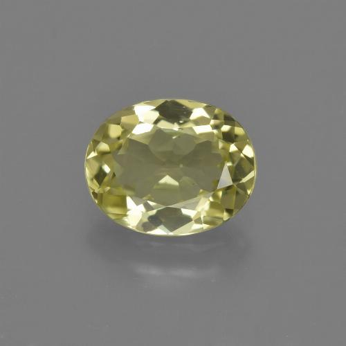 1.8ct Oval Facet Medium Yellow Sillimanite Gem (ID: 411457)