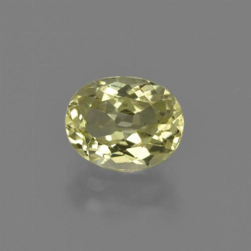 2.1ct Oval Facet Medium Yellow Sillimanite Gem (ID: 411458)