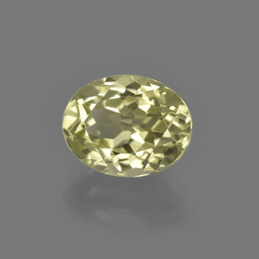 2.3ct Oval Facet Pale Cream Yellow Sillimanite Gem (ID: 411459)
