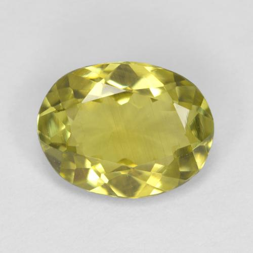 1.7ct Oval Facet Yellow Green Sillimanite Gem (ID: 411496)