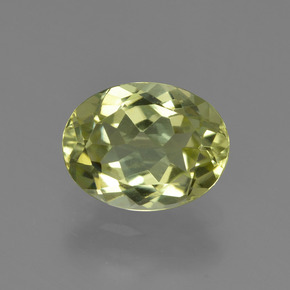 1.8ct Oval Facet Medium Yellow Sillimanite Gem (ID: 411497)