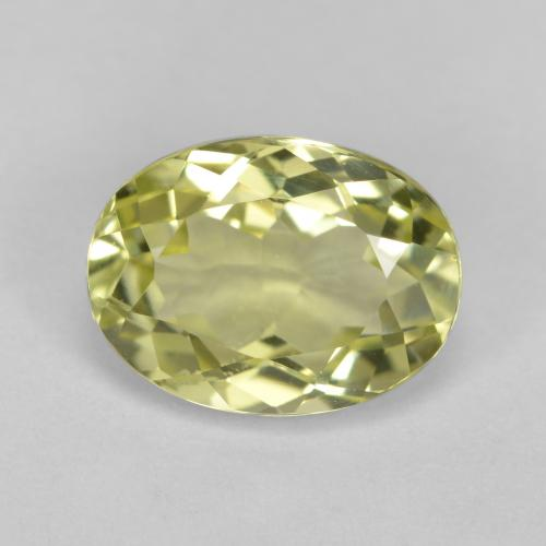 1.9ct Oval Facet Medium Yellow Sillimanite Gem (ID: 411498)
