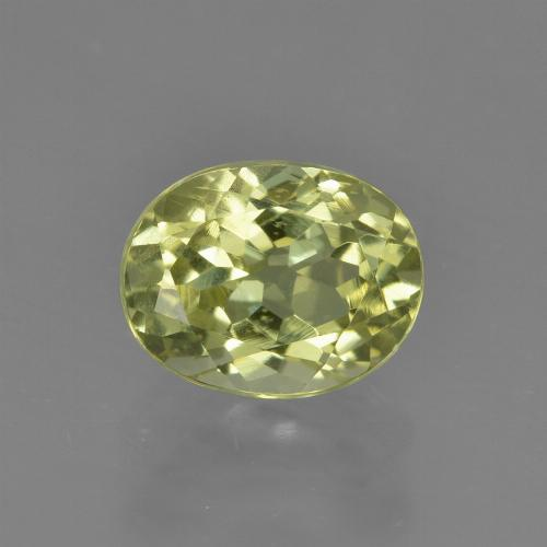 Yellow Green Sillimanite Gem - 2.1ct Oval Facet (ID: 411499)