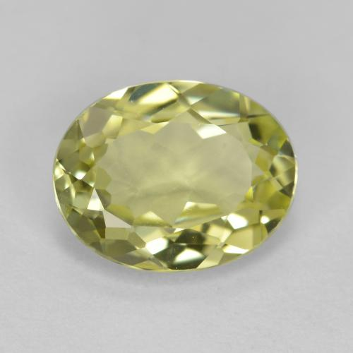 1.7ct Oval Facet Medium Yellow Sillimanite Gem (ID: 411501)