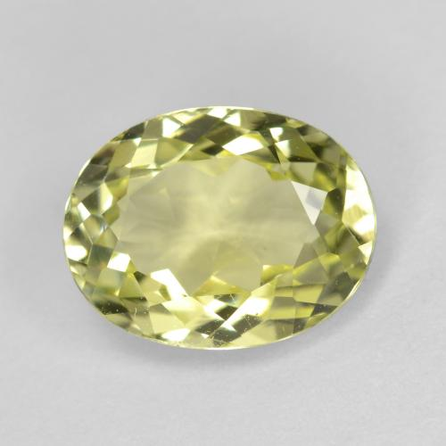 2ct Oval Facet Medium Yellow Sillimanite Gem (ID: 411503)