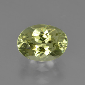 1.9ct Oval Facet Medium Yellow Sillimanite Gem (ID: 411505)