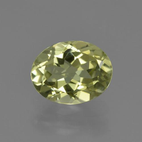 1.8ct Oval Facet Yellow Green Sillimanite Gem (ID: 411506)