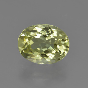 2.1ct Oval Facet Yellow Green Sillimanite Gem (ID: 411507)