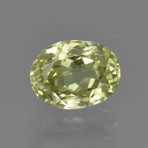 1.7ct Oval Facet Medium Yellow Sillimanite Gem (ID: 411522)