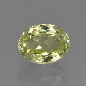 1.6ct Oval Facet Yellow Green Sillimanite Gem (ID: 411523)