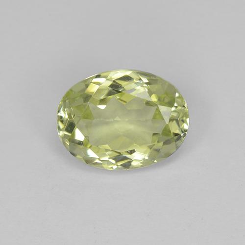 1.5ct Oval Facet Light Greenish Yellow Sillimanite Gem (ID: 411524)