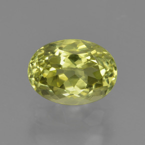1.7ct Oval Facet Greenish Yellow Sillimanite Gem (ID: 411528)