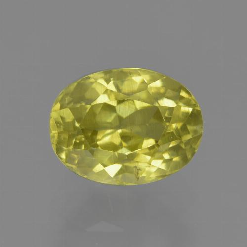 1.8ct Oval Facet Pineapple yellow Sillimanite Gem (ID: 411529)