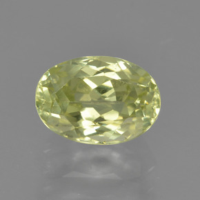 1.6ct Oval Facet Light Greenish Yellow Sillimanite Gem (ID: 411530)