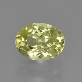 1.4ct Oval Facet Greenish Yellow Sillimanite Gem (ID: 411531)