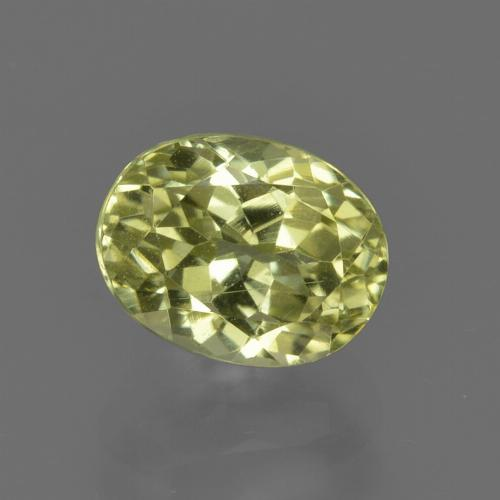 1.9ct Oval Facet Yellow Green Sillimanite Gem (ID: 411556)