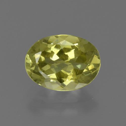 1.6ct Oval Facet Medium Yellow Sillimanite Gem (ID: 411558)