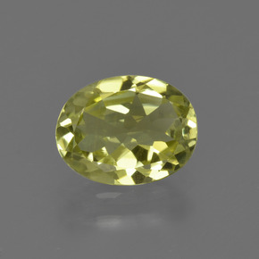 1.6ct Oval Facet Greenish Yellow Sillimanite Gem (ID: 411559)