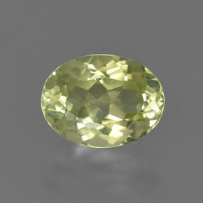 1.8ct Oval Facet Light Greenish Yellow Sillimanite Gem (ID: 411561)