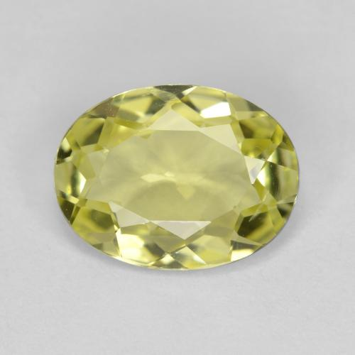 1.5ct Oval Facet Greenish Yellow Sillimanite Gem (ID: 411563)