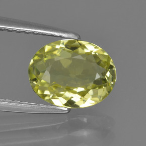 1.6ct Oval Facet Medium Yellow Sillimanite Gem (ID: 411564)