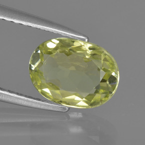1.6ct Oval Facet Medium Yellow Sillimanite Gem (ID: 411567)