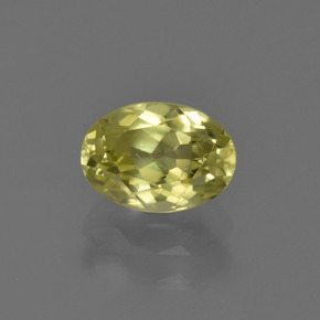 1.4ct Oval Facet Medium Yellow Sillimanite Gem (ID: 411588)