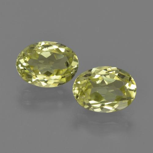 1.3ct Oval Facet Greenish Yellow Sillimanite Gem (ID: 411618)