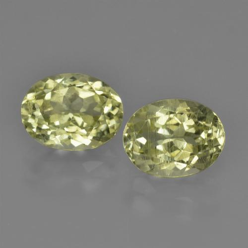 1.5ct Oval Facet Greenish Yellow Sillimanite Gem (ID: 411623)