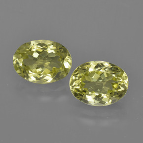 Green Yellow Sillimanite Gem - 1.4ct Oval Facet (ID: 411624)
