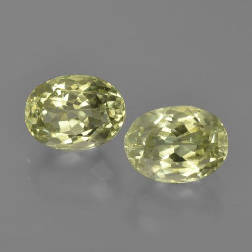 1.6ct Oval Facet Medium Yellow Sillimanite Gem (ID: 411628)