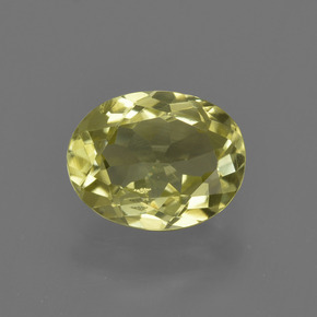 1.3ct Oval Facet Medium Yellow Sillimanite Gem (ID: 411643)