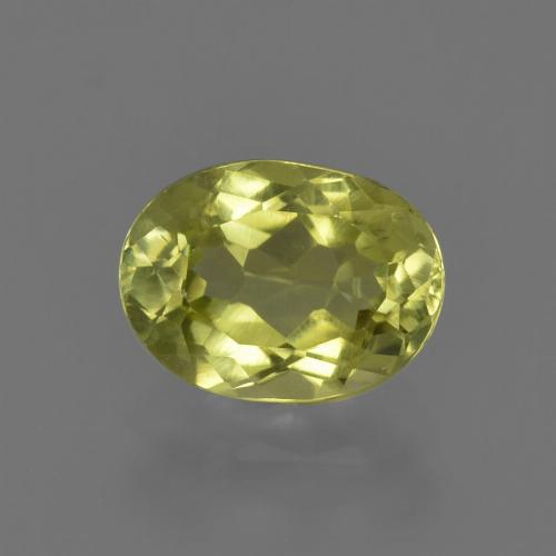 1.4ct Oval Facet Medium Yellow Sillimanite Gem (ID: 411644)