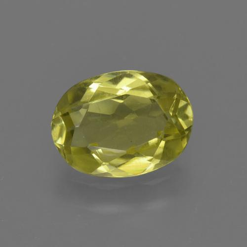 1.1ct Oval Facet Pineapple Yellow Sillimanite Gem (ID: 411645)