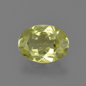 1.1ct Oval Facet Light Greenish Yellow Sillimanite Gem (ID: 411646)