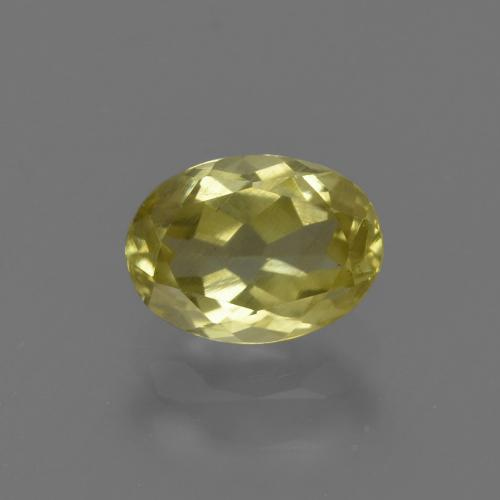 1.1ct Oval Facet Medium Yellow Sillimanite Gem (ID: 411648)