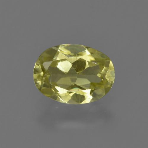1ct Oval Facet Earthy Yellow Sillimanite Gem (ID: 411649)