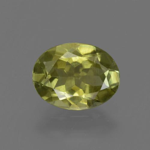 1.2ct Oval Facet Medium Yellow Sillimanite Gem (ID: 411652)