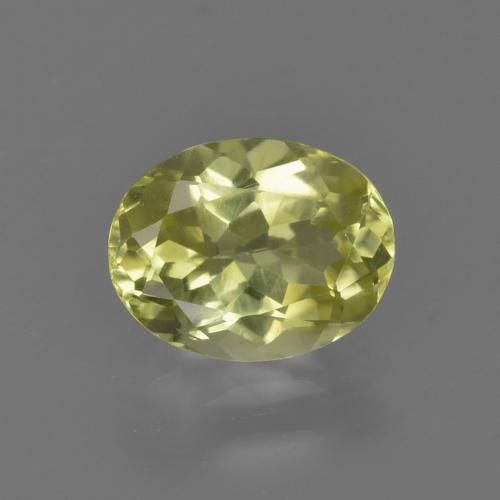 1.2ct Oval Facet Medium Yellow Sillimanite Gem (ID: 411653)
